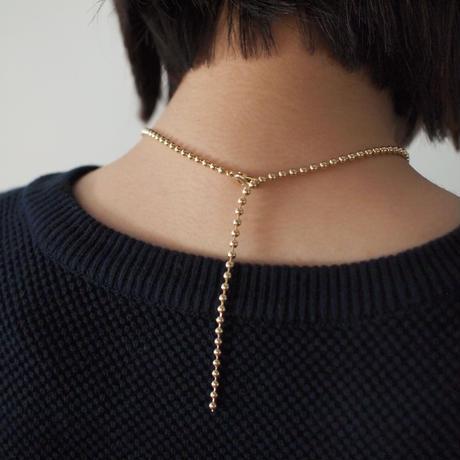 CHARM ballchain necklace(silver)