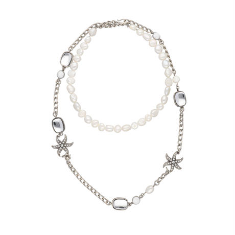 ETOILE DE MER multi motif 2way necklace(silver)