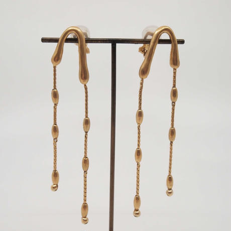 GOUTTE long pierce/earring (gold)
