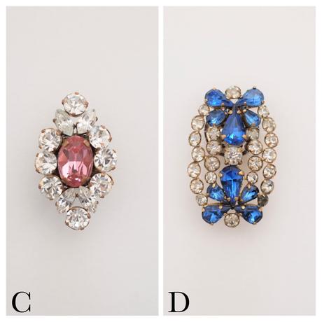 Vintage asymmetry earring(BOX付)