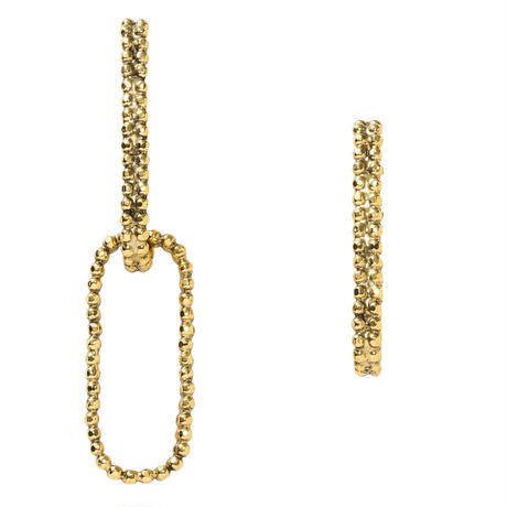 CUTSTEEL chain asymmetry pierce/earring(gold)