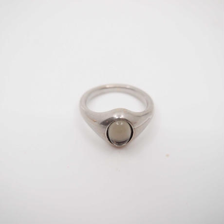 BASIC cabochon ring  (silver)