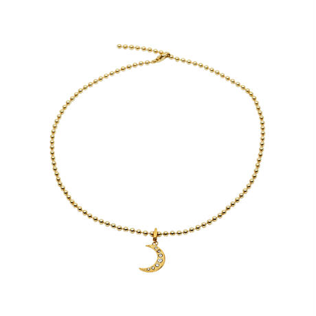 CHARM ballchain necklace(gold)