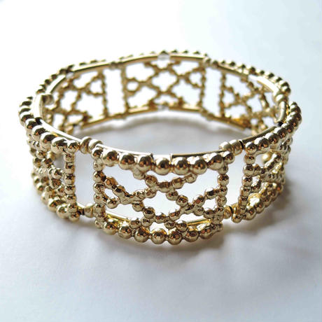 CUTSTEEL quilt band bracelet(gold/silver)