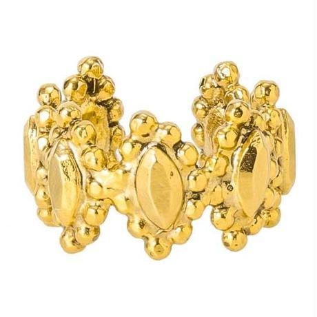 CUTSTEEL flower band ring