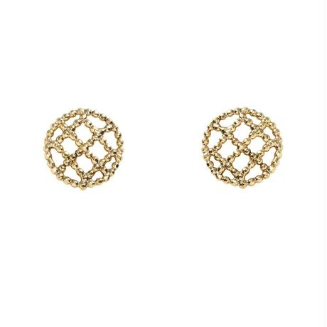 CUTSTEEL quilt pierce /earring(gold)