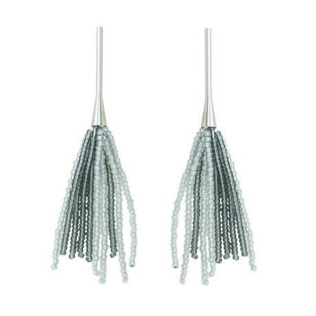 BLOCK PEARL beads fringe pierce