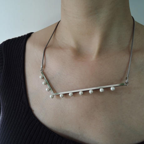 LAYER adjaster necklace (silver)