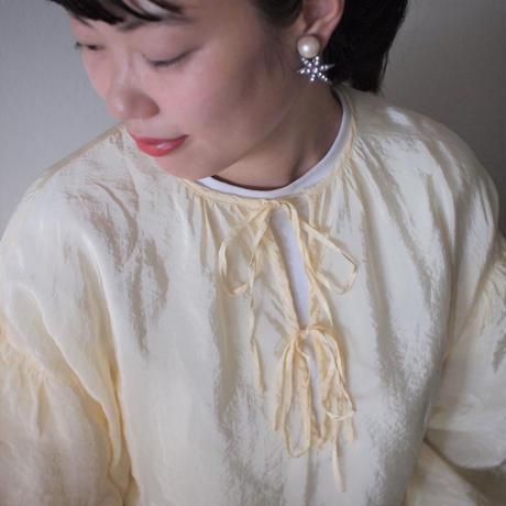 STAR pearl earring  (silver)