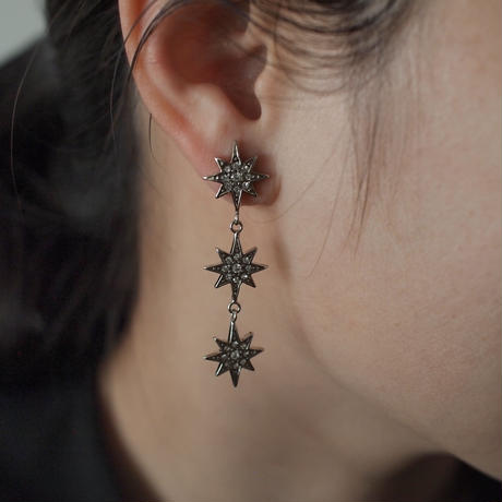 STAR triple earring(silver)
