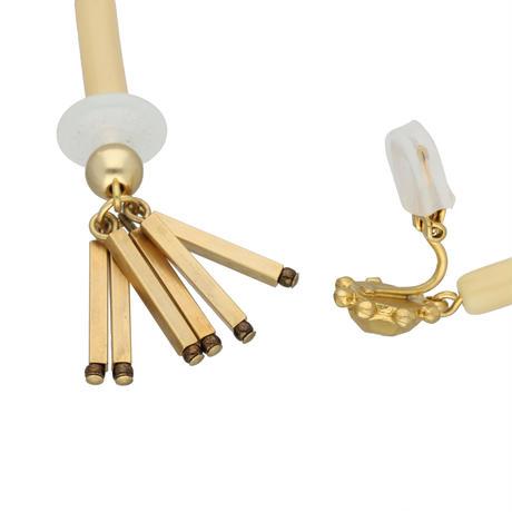 VINTAGE BEADS fringe earring