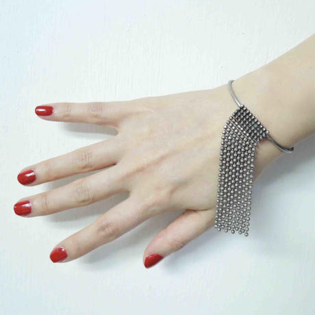 CUT STEEL fringe bangle