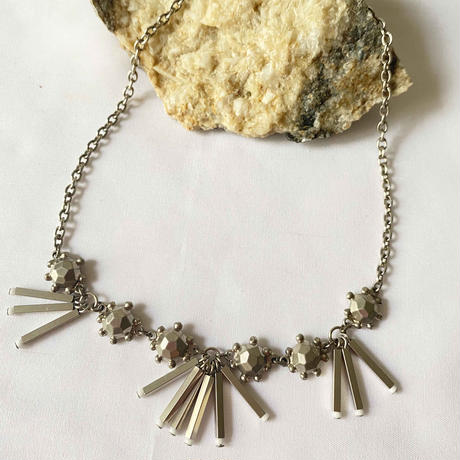 VINTAGE BEADS chain short necklace