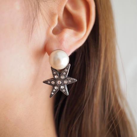 STAR pearl pierce (silver)