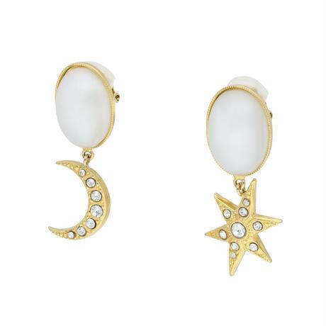 MOON&STAR cabochon earring/pierce