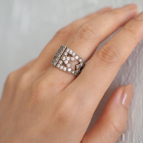 ARABESQUE silver ring(gold)