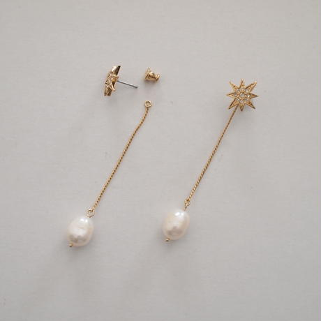 STAR  2way long pearl pierce