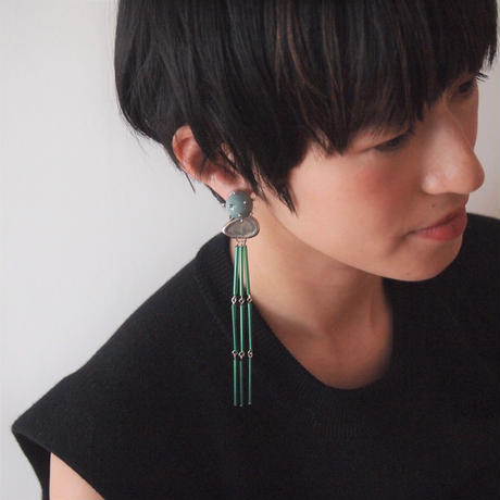 BALLON beads fringe earring