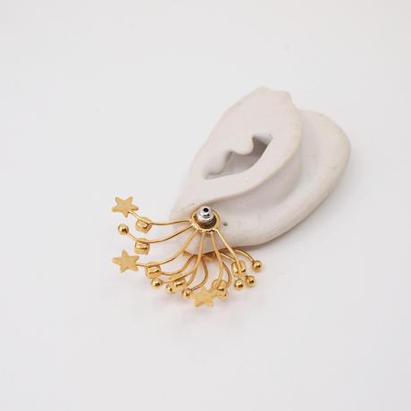STAR FILIGREE solid pierce (gold)