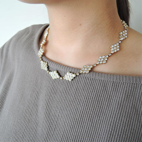DIAMANTE crystal necklace