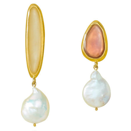BLOCK PEARL pearl pierce/earring