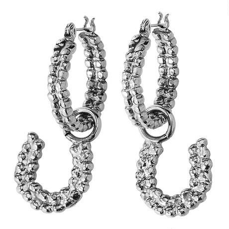 Horseshoe hoop pierce (silver)