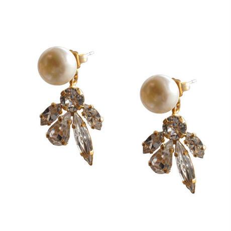 crystal x pearl 2way pierce