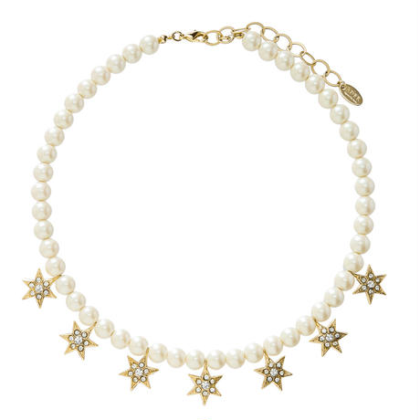 STAR pearl short necklace