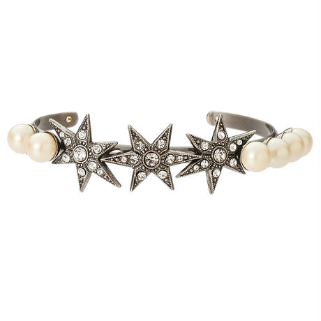 STAR pearl bangle(silver)