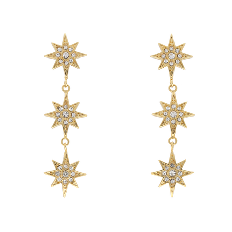 STAR triple pierce/earring