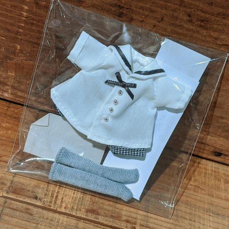 男の子セーラー・白半袖 オビツ11【KAZUHA-MADE】