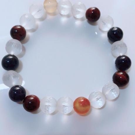 天然石 パワーストーン 水晶 ブレスレット メンズ向け(3)
