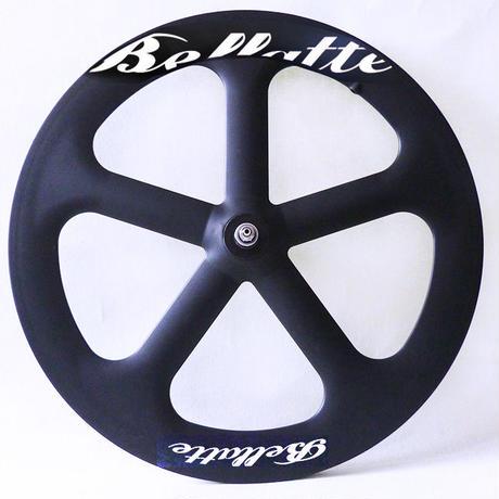 Bellatte トラックレース用65mmフロントフルカーボンチューブラーバトンホイール