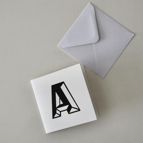 アルファベット レタープレスカード by Stephen Kenny 27枚セット