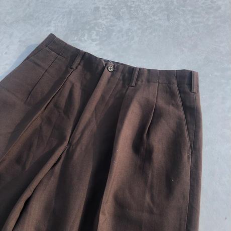 90's Y's for men wool tuck pants