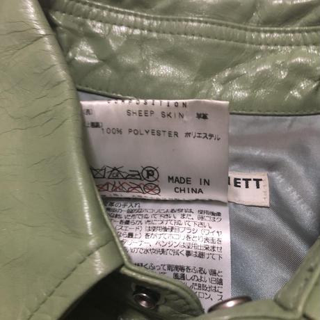 90's KATHARINE HAMNETT LONDON Sheep Leather Jacket Size M