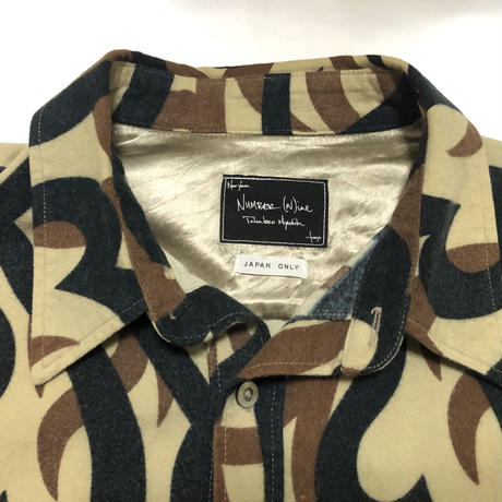 """04AW NUMBER (n)ine Heart tribal shirt """"JAPAN LIMITED"""""""