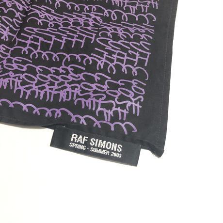 "03SS RAF SIMONS ""CLOSER"" Printed bandanna"