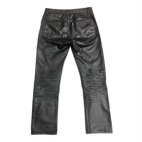 1999 HELMUT LANG Rubber coated denim Size 26