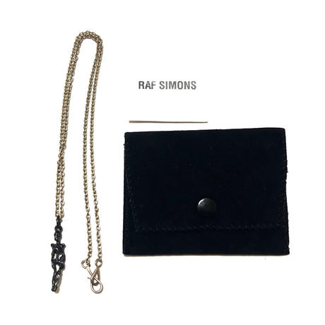 """04AW RAF SIMONS """"WAVES"""" Skull necklace Size Free"""