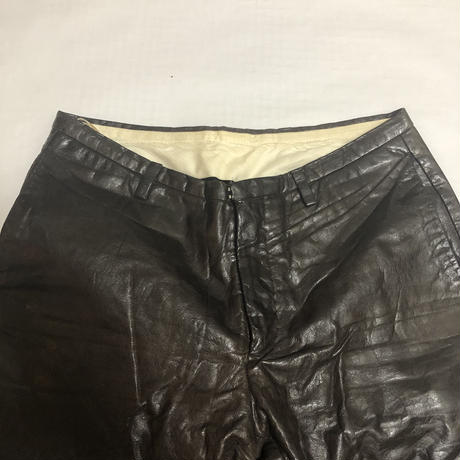 2001SS CAROL CHRISTIAN POELL Leather pants size 44