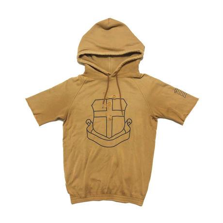 "2001AW Number (N)ine by Takahiro Miyashita ""STANDARDS"" Emblem short sleeve hoodie"