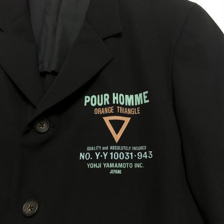 1993SS Yohji Yamamoto POUR HOMME Delivery logo Print Jacket