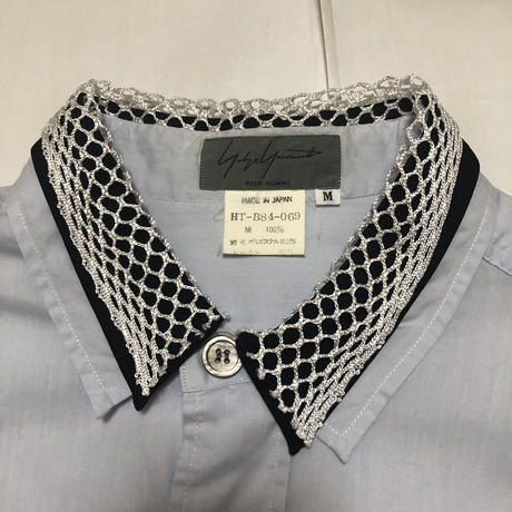 "1994SS Yohji Yamamoto POUR HOMME ""Scarecrow"" Triple collar switching shirt Size M"