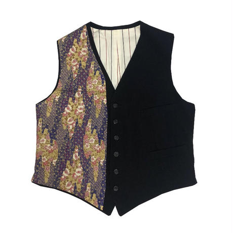 """95AW YOHJI YAMAMOTO POUR HOMME """"鹿鳴館"""" Japanese paper change vest"""