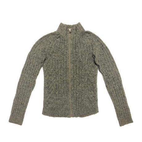 90's DOLCE&GABBANA Logo patch knit jacket