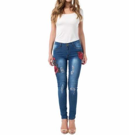 Blossomed Flower Jeans