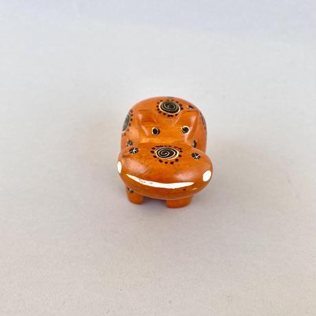 ソープストーン オレンジ色のカバさん