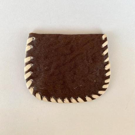 レザーコインパース チョコの斑