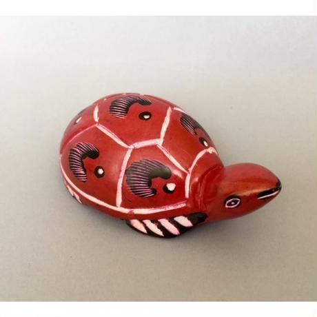 ソープストーン 赤いカメさん